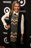 Elizabeth Olsen had a laugh at the Missoni for Target party.