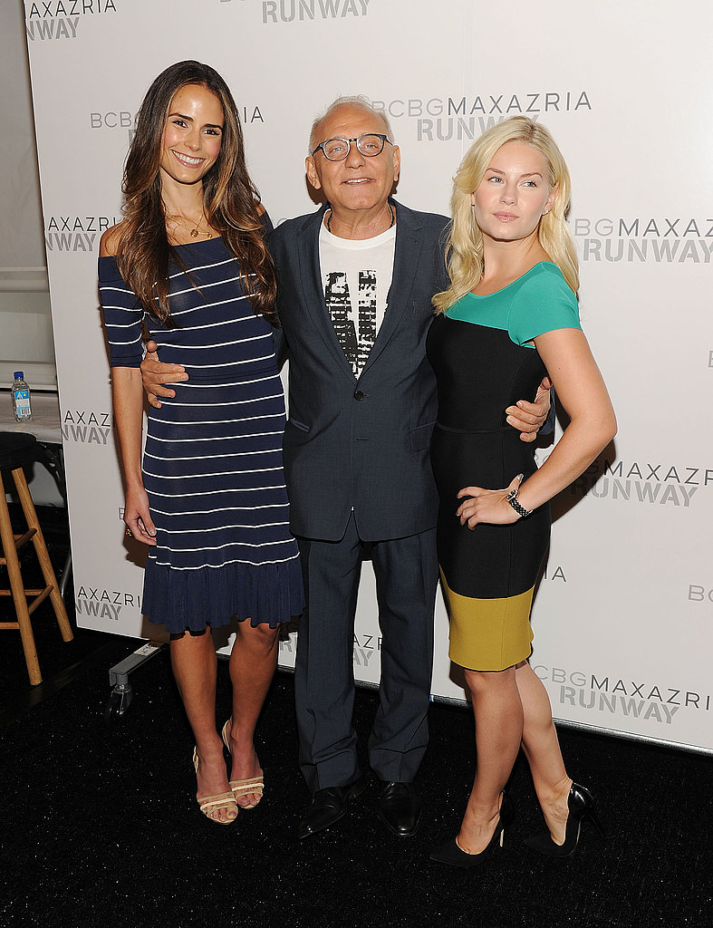 Jordana Brewster, Max Azria, and Elisha Cuthbert posed at the BCBG Max Azria show.