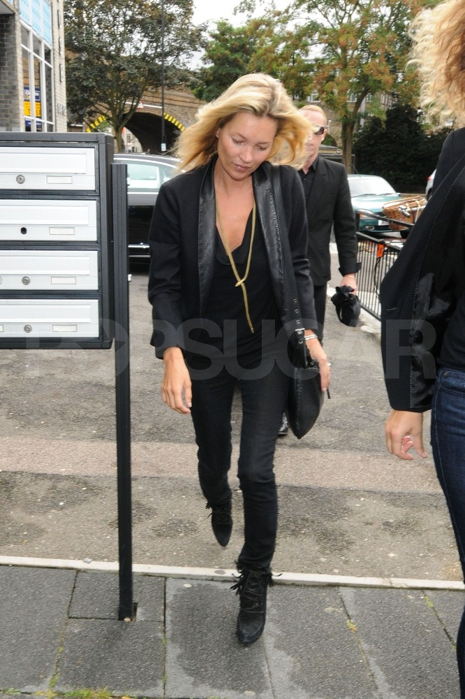 Kate Moss off to work in London.