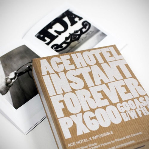Ace Hotel and Impossible Project Polaroid camera kit.