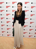 Rachel Bilson channeled casual glamour in a maxiskirt and blazer for Fashion's Night Out.