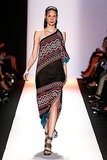 BCBG Max Azria's modern tribal print one-shoulder dress would be the perfect Summer dress.