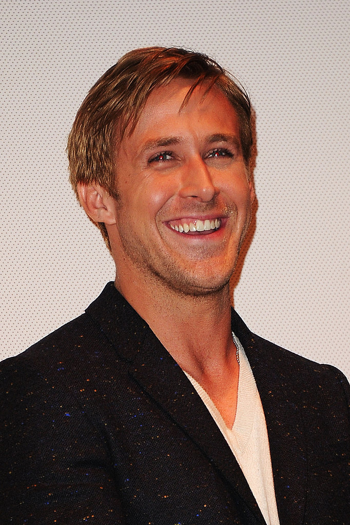 Ryan Gosling flashed a smile.