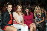 Shantel VanSanten, JoAnna Garcia, Jamie-Lynn Sigler, and Ashley Tisdale sit pretty in Luca Luca's front row.