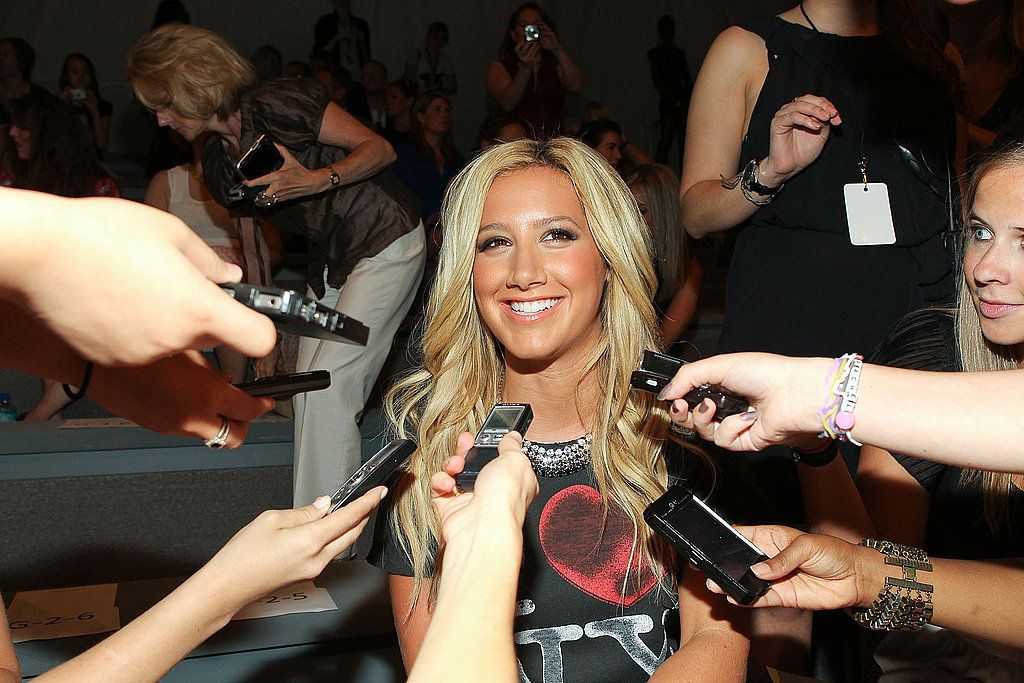 Ashley Tisdale front row at Luca Luca.