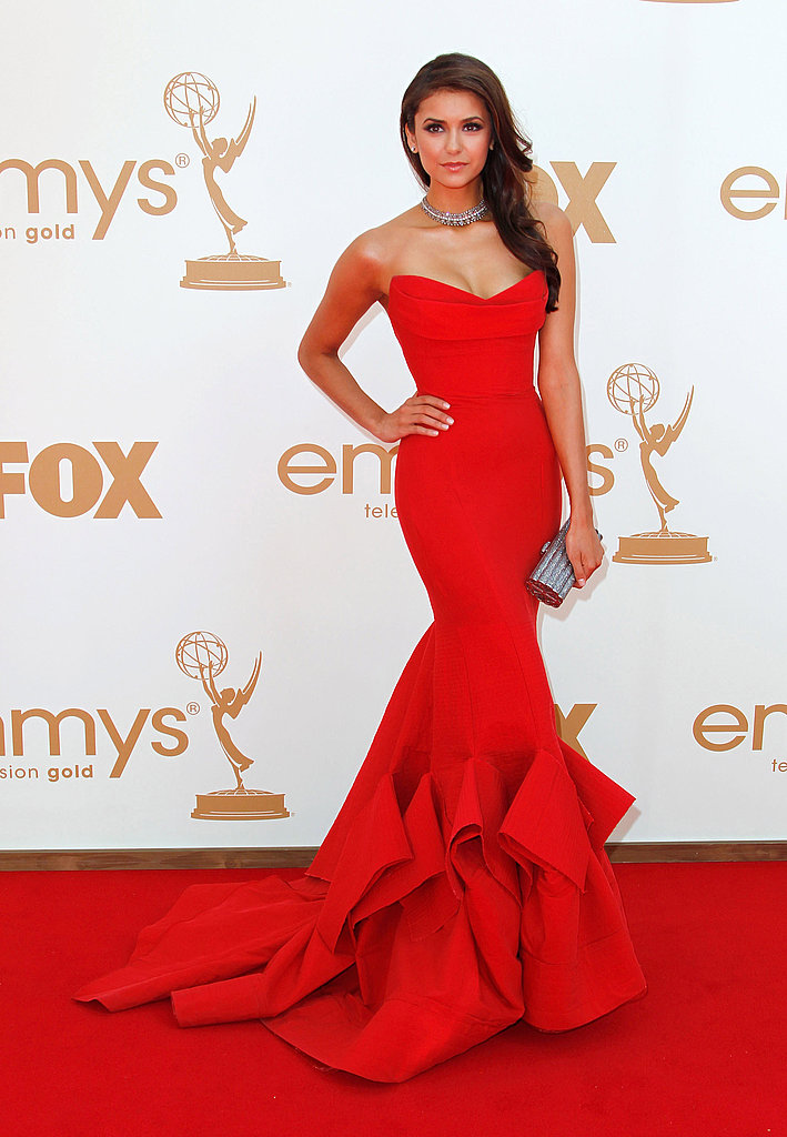 Nina Dobrev in Donna Karan at the 2011 Emmy's.