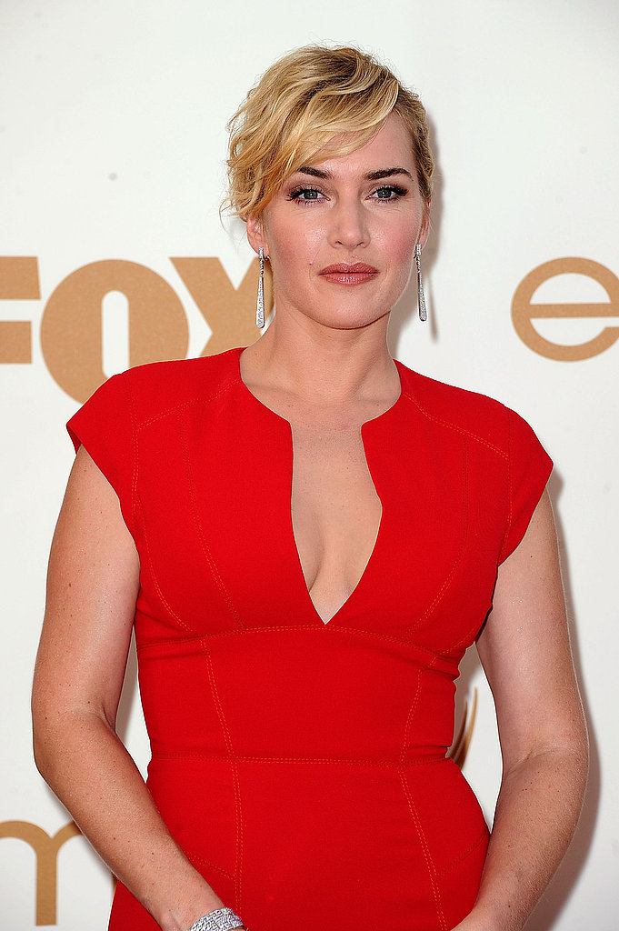 Kate Winslet in red.