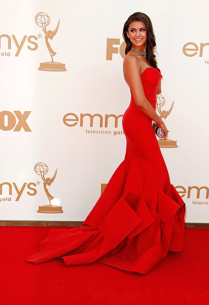 Nina Dobrev's 2011 Emmys red carpet look.