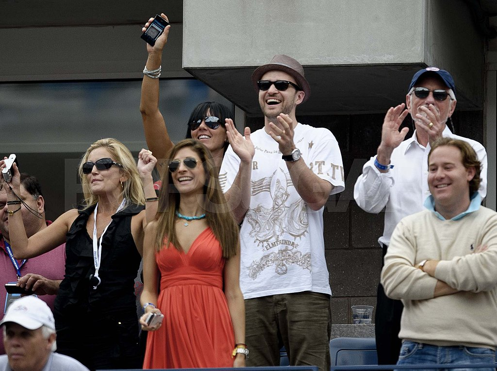 Justin Timberlake in the stands at the US Open.