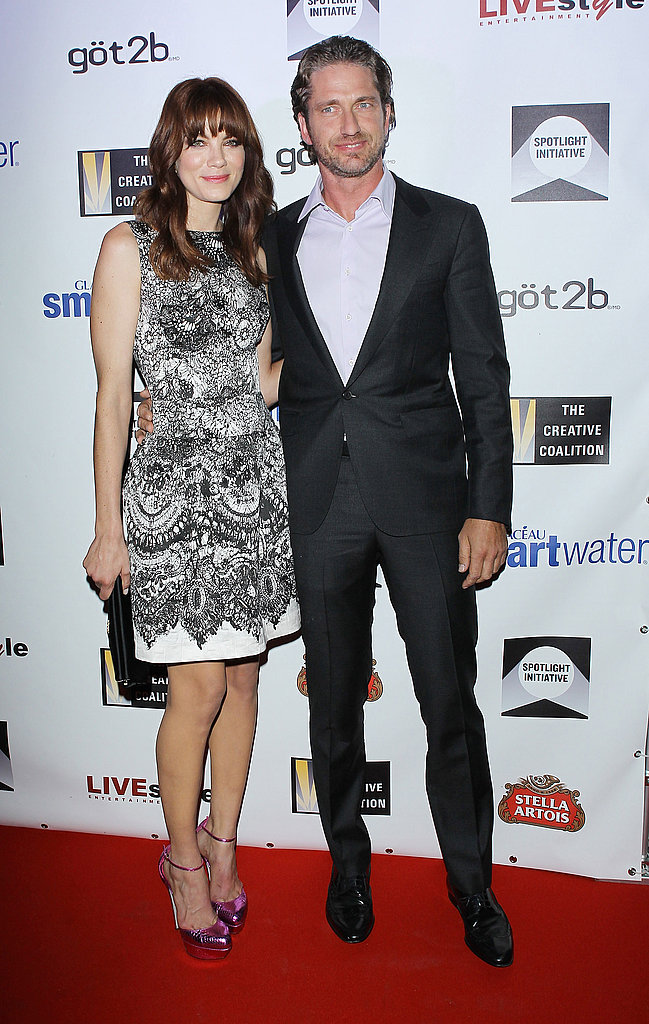 Gerard Butler and Michelle Monaghan posed on the red carpet.