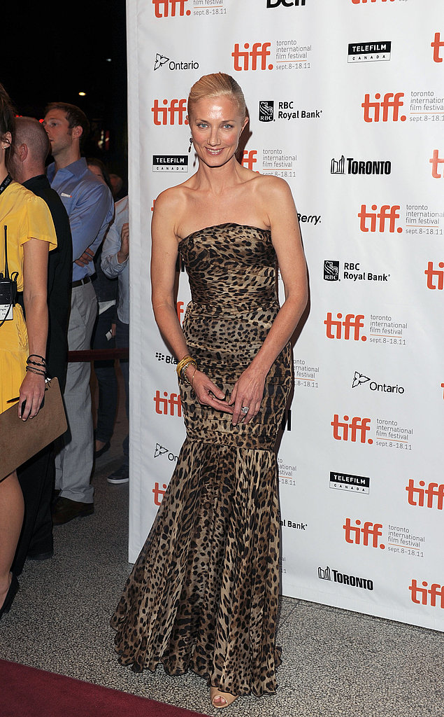 Joely Richardson went wild in a leopard-print gown.