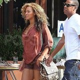 Pregnant Beyonce Knowles in NYC.