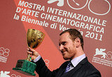 Michael Fassbender with the Volpi Cup.