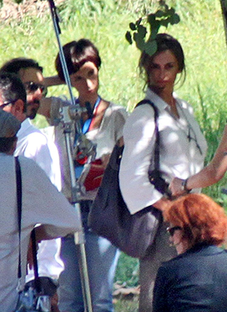 Penelope Cruz on the set of Venuto Al Mondo in Sarajevo.