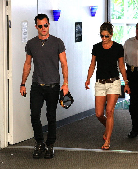 Jennifer Aniston and Justin Theroux in LA.