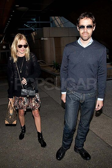 Kate Bosworth and Michael Polish land at LAX.