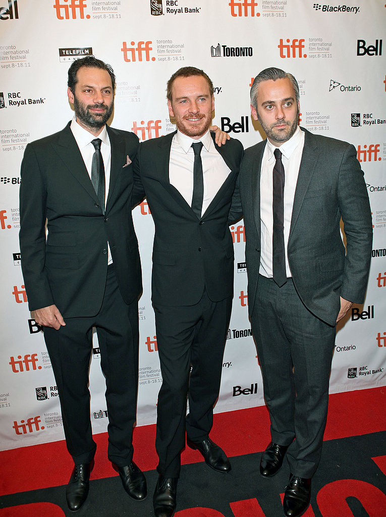 Emile Sherman, Michael Fassbender, and Ian Canning attended the Shame premiere.