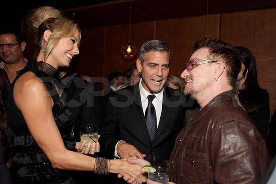 George Clooney and Stacy Keibler Party Together at TIFF