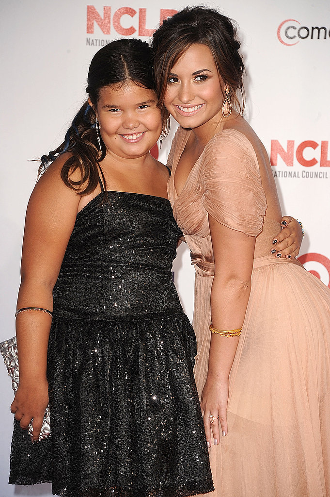 Demi Lovato and Madison De La Garza at the ALMA Awards.