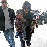 Sandra Bullock and Louis at LAX.