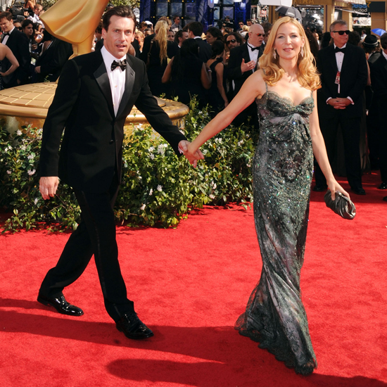 Jennifer Westfeldt pulled along longtime boyfriend Jon Hamm on the 2010 Emmys red carpet.