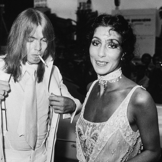 Cher and her husband, musician Gregg Allman of the Allman Brothers Band, attended the 1975 Emmys Awards. She was nominated for The Sonny and Cher Comedy Hour.