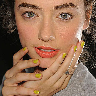 Karen Walker Spring 2012: Mustard-Colored Manicures
