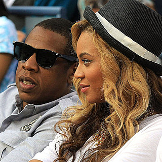 Jay-Z and Pregnant Beyonce Knowles Pictures at US Open