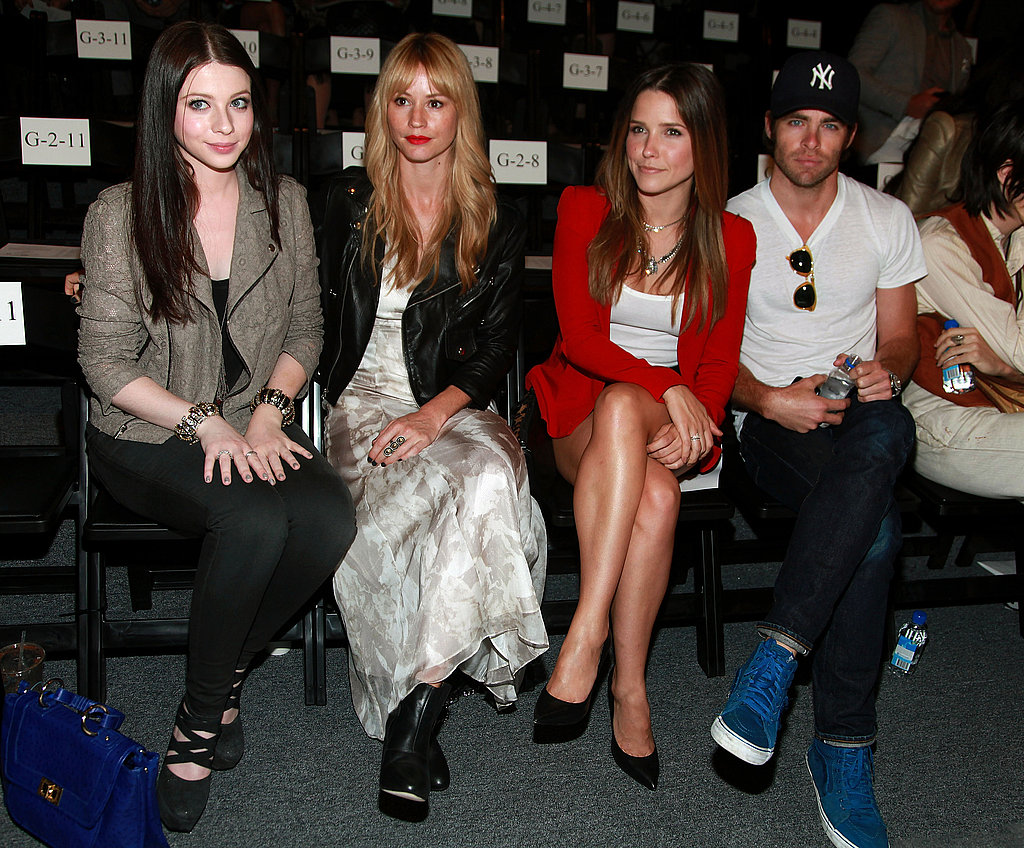 Michelle Trachtenberg, Cameron Richardson, Sophia Bush, and Chris Pine attend the Rebecca Minkoff Spring 2012 show.