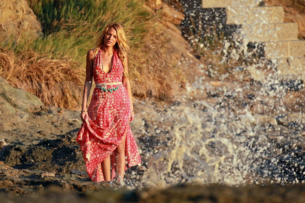 Blake Lively in a maxidress for Savages.