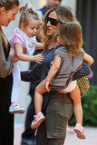 Sarah Jessica Parker with daughters Marion and Tabitha.