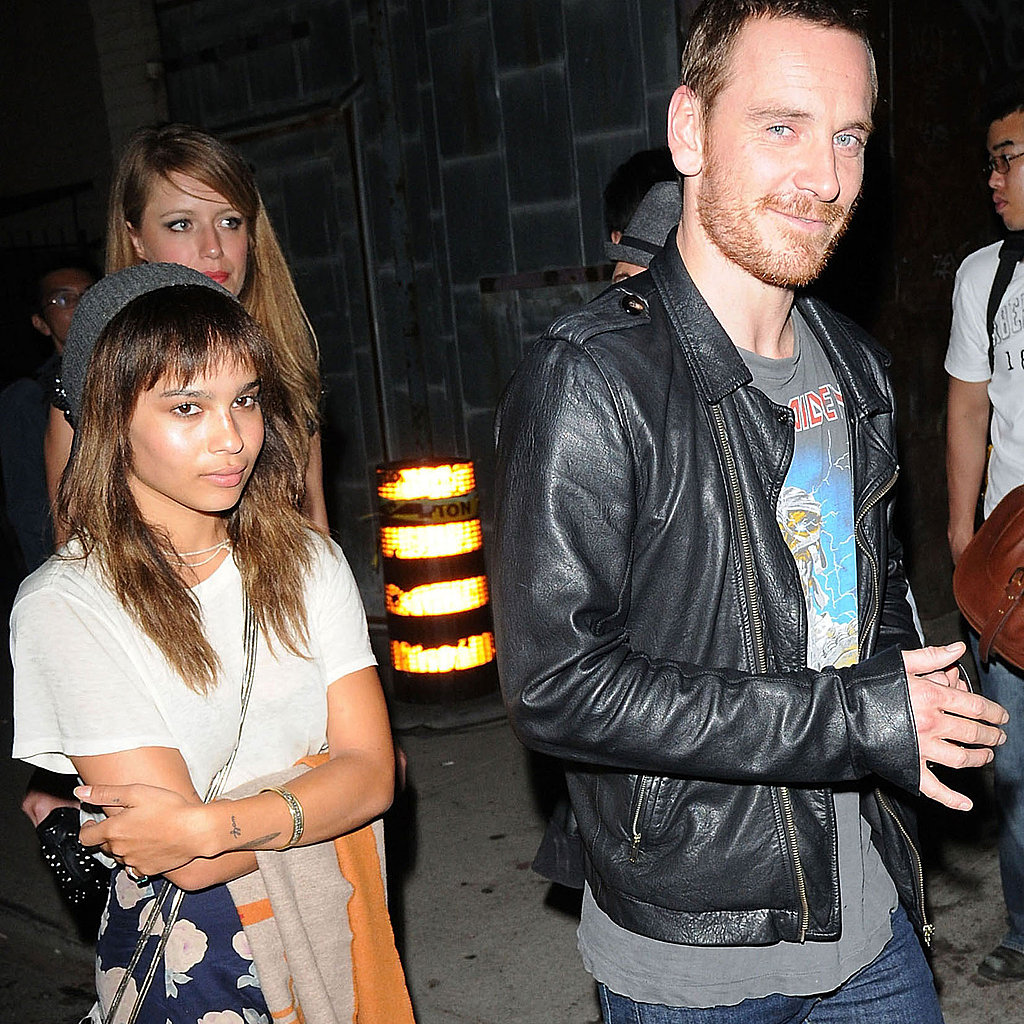 Michael Fassbender and Zoe Kravitz together.