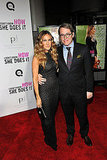 Matthew Broderick put his arm around Sarah Jessica Parker.