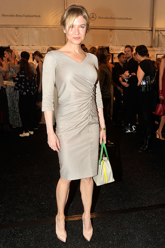 Renée Zellweger at the Carolina Herrera show.