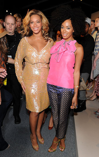 Beyoncé and Solange Take Their Sister Act Front Row at Fashion Week
