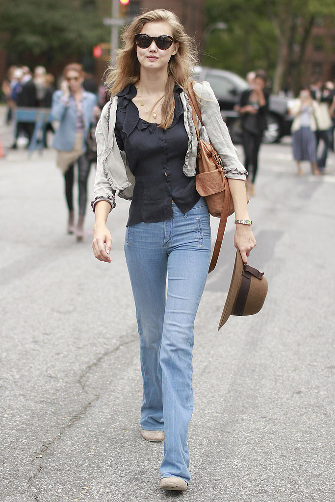 Lindsey Wixson channels the '70s in easy denim.