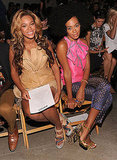 Beyoncé and sister Solange made a stylish front-row appearance at Rodarte.