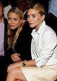 Mary-Kate and Ashley Olsen sat front row at J. Mendel's show.