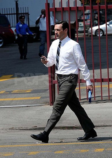 Jon Hamm in character as Don Draper.
