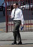 Jon Hamm filming Mad Men.