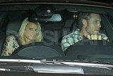 Eric Johnson drives fiancée Jessica Simpson home after dinner at Madeo.