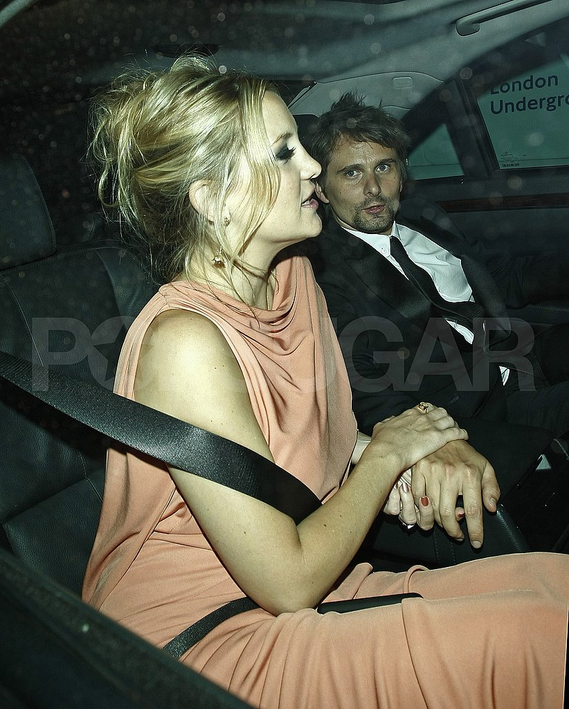 Kate Hudson holds hands with fiancé Matt Bellamy.