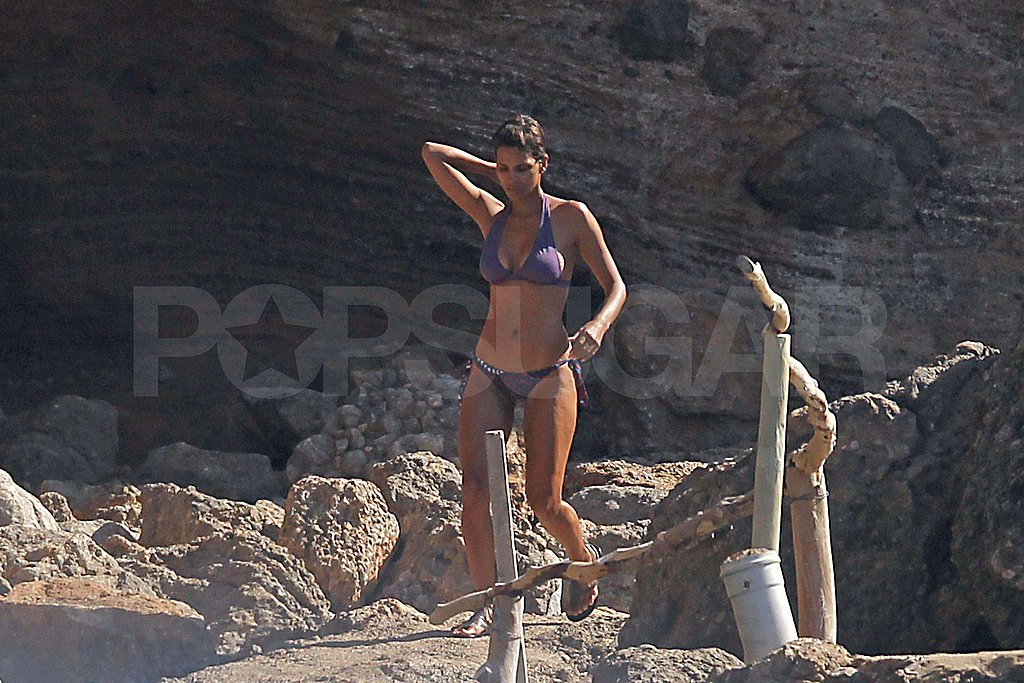 Halle Berry in a bikini in Spain.