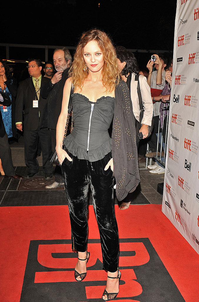 Vanessa Paradis on the red carpet for Café de Flore.
