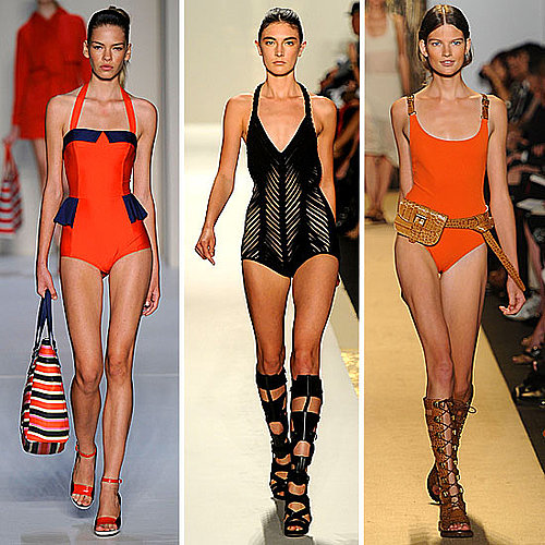 Pictures of Models from 2012 New York Fashion Week in Swimsuits: Move Over Bikinis, It's All About the One Piece This Summer!