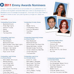 2011 Emmy Ballot and Live Online Red-Carpet Coverage