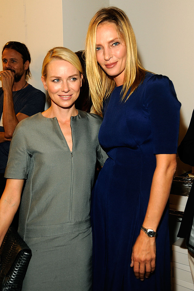 Uma Thurman towered over Naomi Watts at Calvin Klein.
