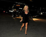 Kate Moss Fashionably Flies Into a Rimmel Bash in London