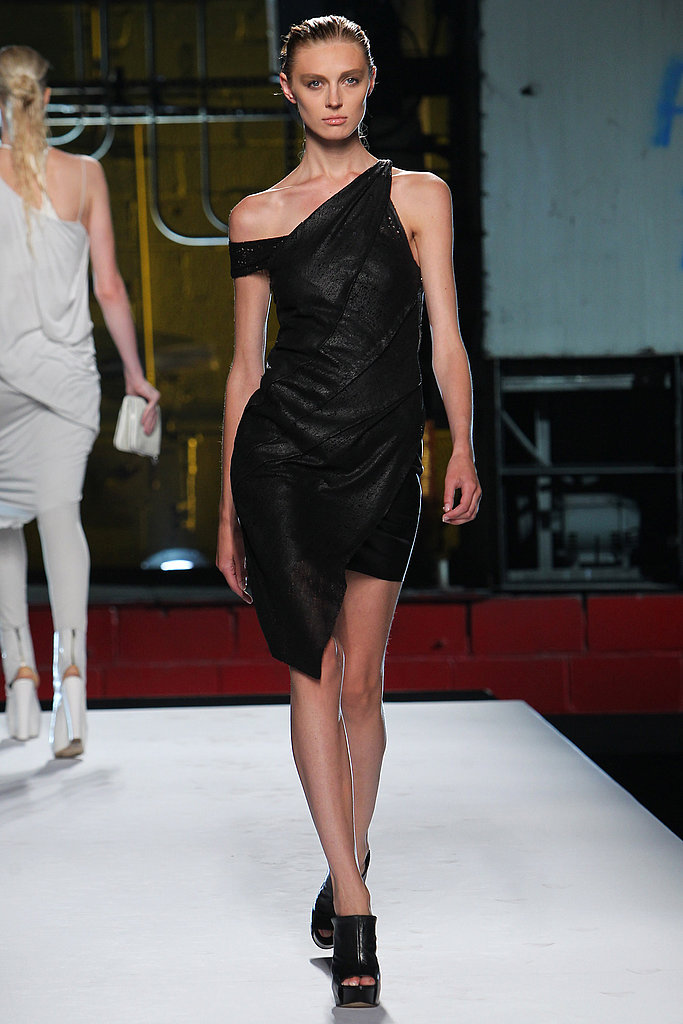 Helmut Lang reworked the LBD with strategic draping.