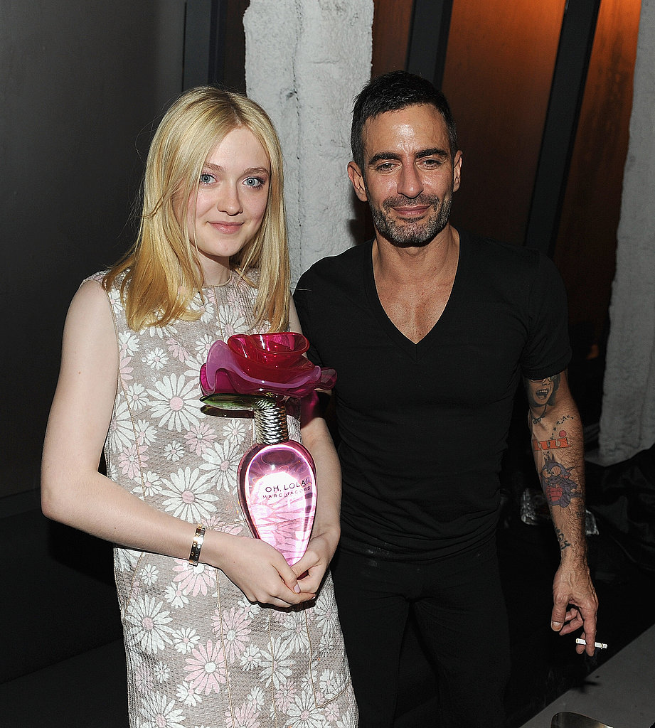 Dakota posed with Marc Jacobs backstage.